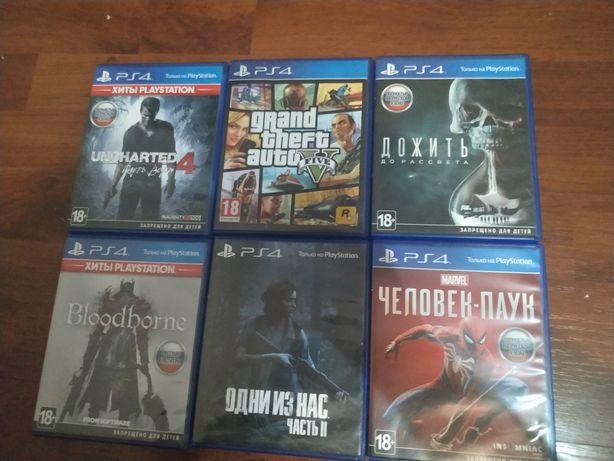 Игры на PS4 Человек-паук, Uncharted 4, Until dawn, GTA V