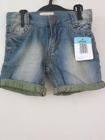 Нови дънкови панталонки 5-6г