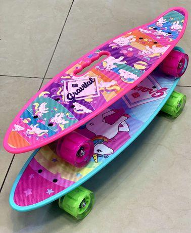 Пени борд/Скейтборд/ Penny board /Пениборд/ Пени борд еднорог