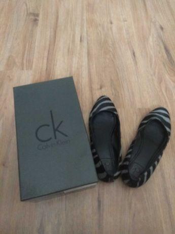Calvin Klein пантофки от естествен косъм