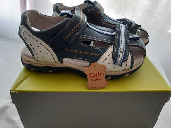 Естествена кожа нови сандали №29