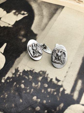 Butoni pentru camasa Musollini Italia fascista de argint