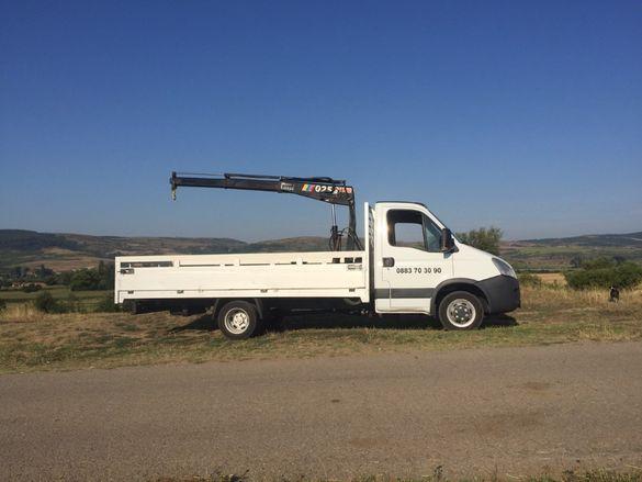 Превозни услуги от камион с кран
