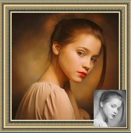 Portrete pictate manual la comanda,caricaturi,peizaje etc