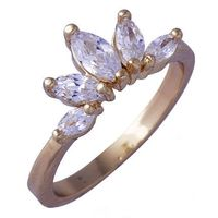 GR333,inel placat aur 18k, model superb, zircon alb fatetat