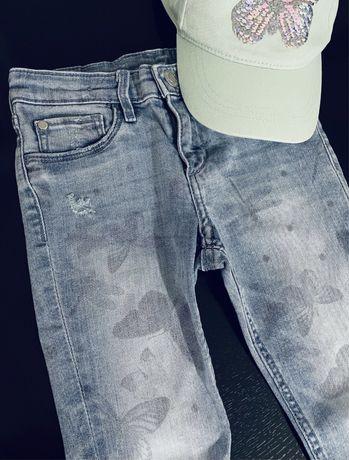 Лот дънки и шапка H&M 110/116 и рокля Зара / Zara 5-6г