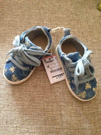 Текстильные кроссовки Zara kids отлично на подарок