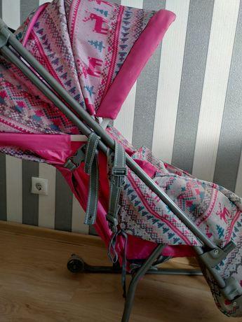 Санки -коляска с двумя колесами