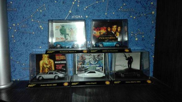 James Bond колекция от 5 метални колички от култовия филм