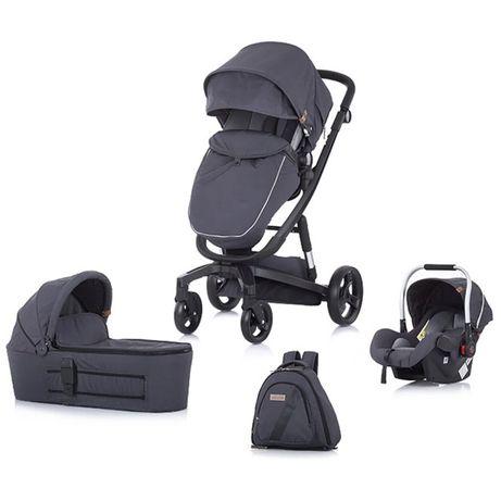 Детска количка 3 в 1 Chipino Electra Gray Модел 2020г.