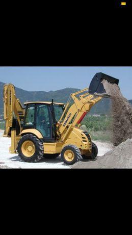 Buldoexcavator Buldo Moloz Demolari Sapaturi Fundații Picon