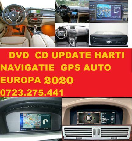 DVD Harti Navigatie BMW SERIA 1 3 5 6 X5 X6 EUROPA + ROMANIA 2020