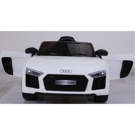 Masinuta electrica pentru copii Audi R8 alb varianta MARE,factura!