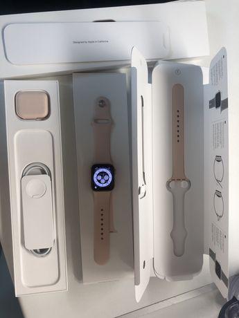Apple watch 6  - смарт часы, 40 mm gold pink