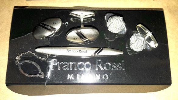 Ръкавели + Щипка за вратовръзка Franco Rossi