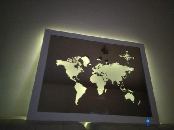 НОВО!!! LED Светещо огледало с Ambilight /подсветка/