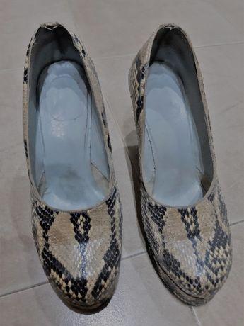Уникални Обувки естествена змийска кожа № 36-оригинал от Франция