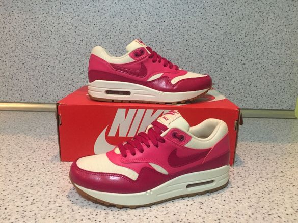 НОВИ *** ОРИГИНАЛНИ Nike Air Max 1 Vintage Sail Pink Force Gum