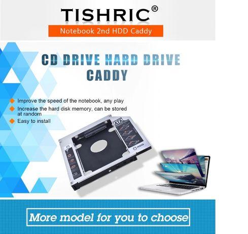 Caddy pentru HDD in locul unitatii optice de 9,5 si 12,7 mm