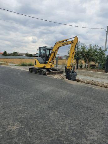 Mini excavator buldo Sapaturi mecanizate Excavari Fundatie Canalizare