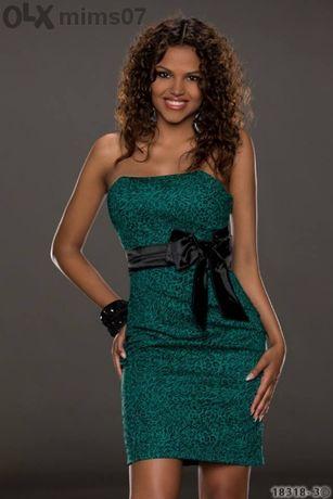 Намалена!!! Коктейлна рокля в зелено