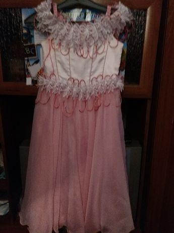платье нарядное для девочки 7-9