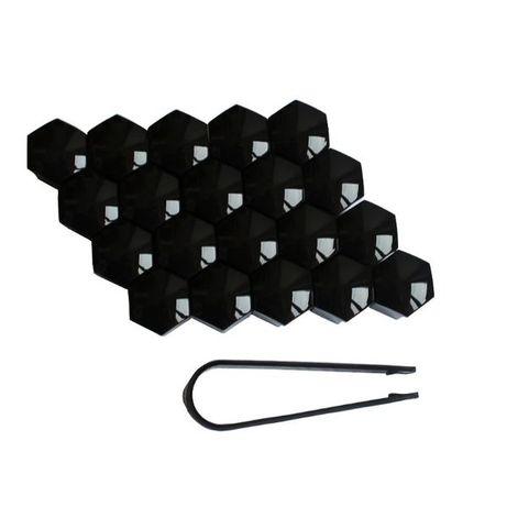 Декоративни капачки за болтове на джантите 17мм - черни.