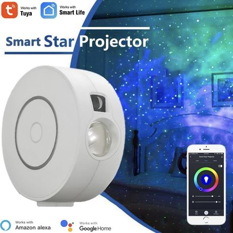 Tuya Smart Star Projector WiFi Laser Starry Sky Projector Alexa