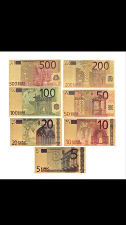 Банкноти позлатени евро 5 До 500 евро нумизматични сувенирни evro