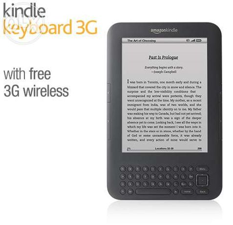 "Kindle Keyboard 3G, Free 3G + Wi-Fi, 6"" E Ink Display"