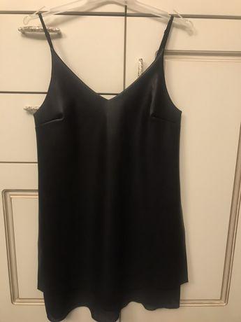 Кожанное платье-сарафан