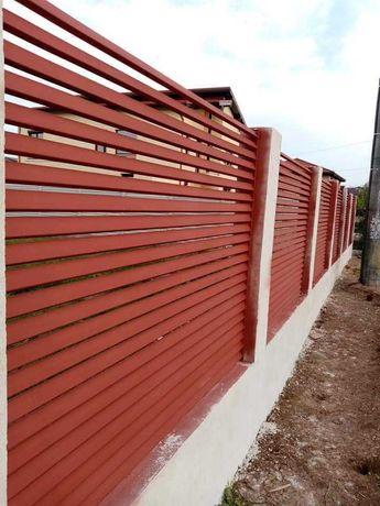 Garduri si porti din stil jaluzea, fier forjat, sipca, BCA, plasa