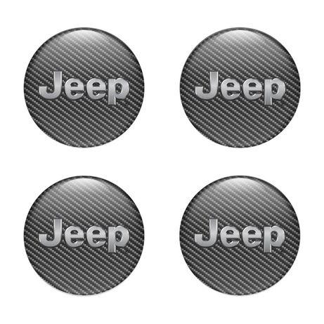 Силиконови стикери за капачки на джанти Jeep размери 40мм до 90м