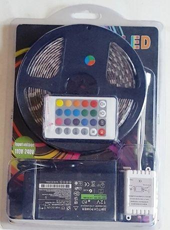 KIT RGB 5050 banda led 5M 60led/m 300 led- Complet