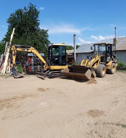 Utilaje Miniexcavator Bobcat Excavator Sapatura santuri fundatie gropi