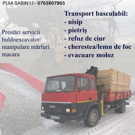 Transport basculabil. nisip, pietriș, moloz, diverse