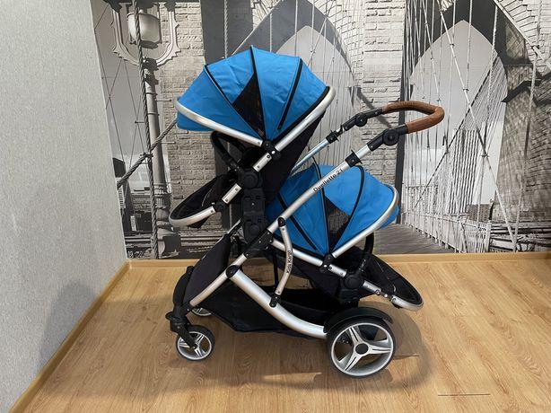 Детская коляска германская для двойни Kidz Kargo Duellette 21