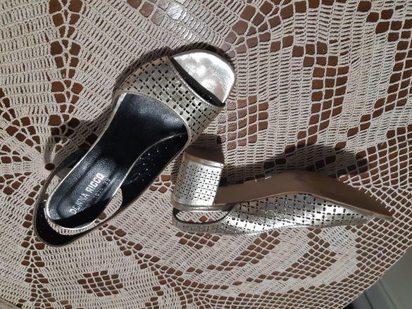 Обувки дамски, златни, летни