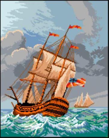 Goblen Fregata in furtuna inramat