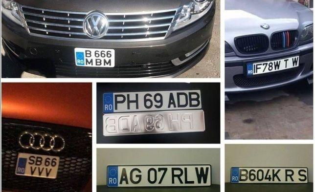 Placute auto numere auto ornamentale