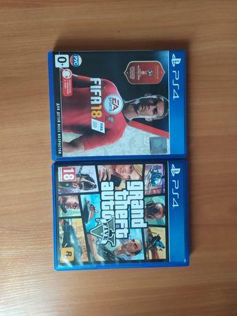 Продам Игры на PS4 Grand theft auto V , FIFA 18