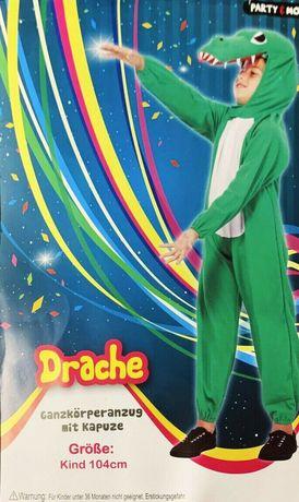 Costum de petrecere pentru copii, cu gluga, dragon, mărimea 104, nou