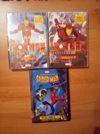 dvd iron man si spider-man