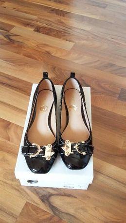 Pantofi balerini lac negru Moda in Pelle piele naturala 38 impecabili