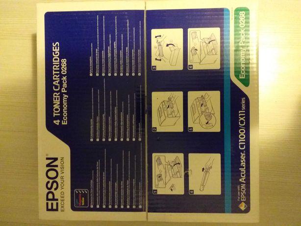 Cartis Toner Epson aculaser C1100 CX11 pachet 4 culori sigilate