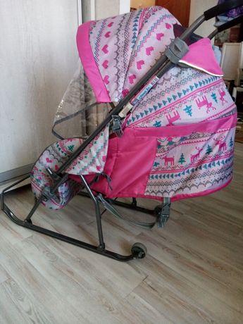 Детский коляска санки