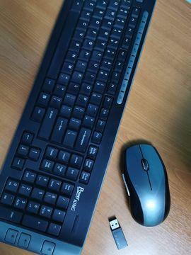 Kit tastatura cu mouse wi-fi Power King
