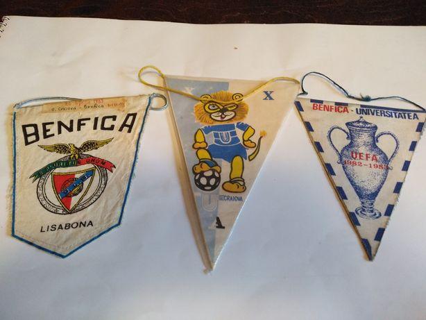 Lot  fanioane Craiova-Benfica semifinale UEFA 1983