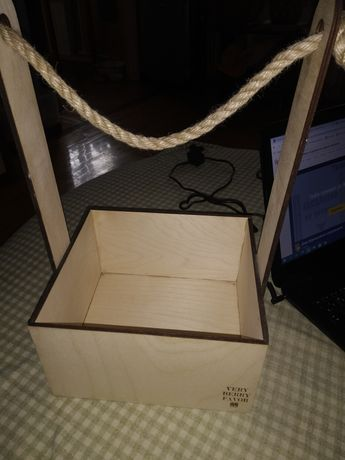 Деревянная подарочная коробка/Упаковка подарочная деревянная.