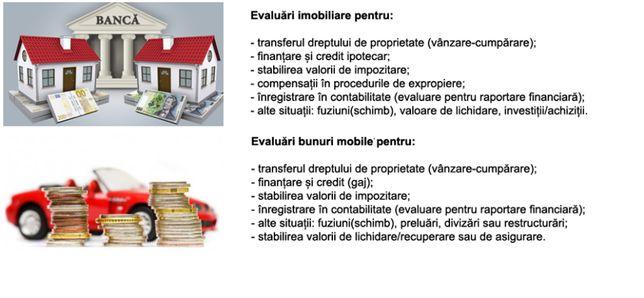 Evaluator autorizat (evaluari imobiliare, bunuri mobile)